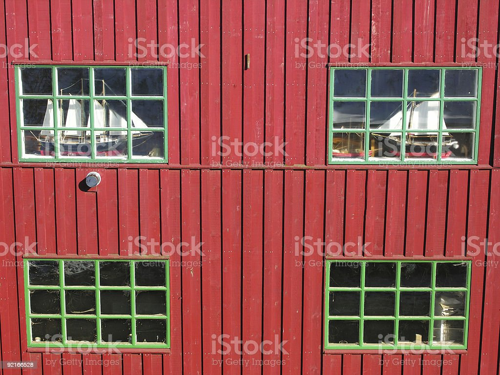 Architecture in Red and Green stock photo