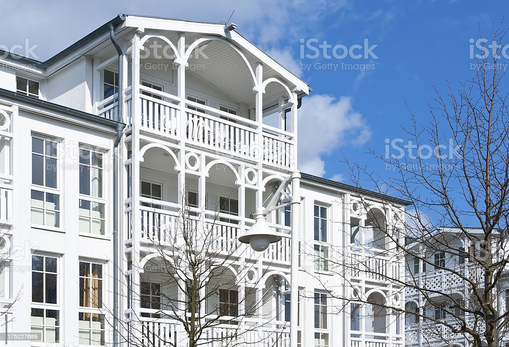 Architecture in Sellin, Isle of Ruegen royalty-free stock photo