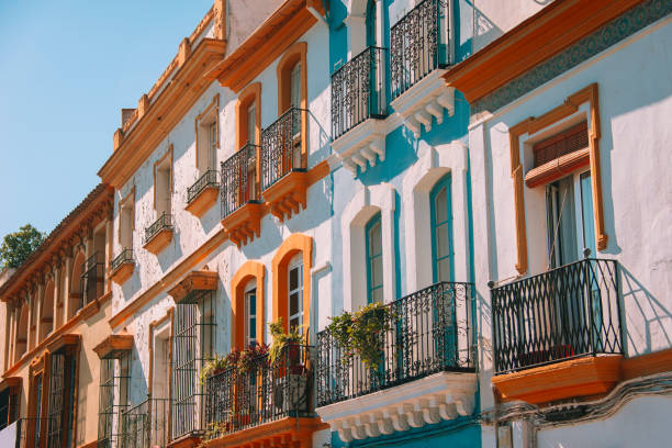 architecture à séville, espagne - andalousie photos et images de collection