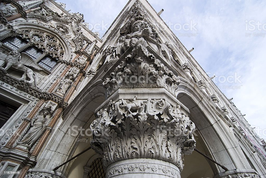 Architecture in  St Mark's Square. Venice royalty-free stock photo