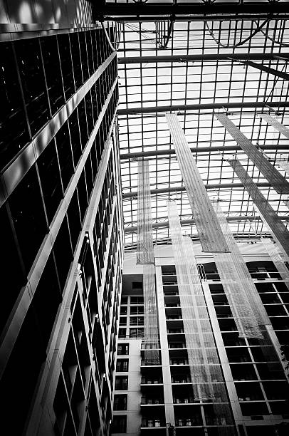 Architecture in the Gaylord National Resort, National Harbor, Ma stock photo