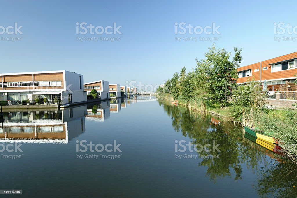 Architecture in the Netherlands royalty-free stock photo