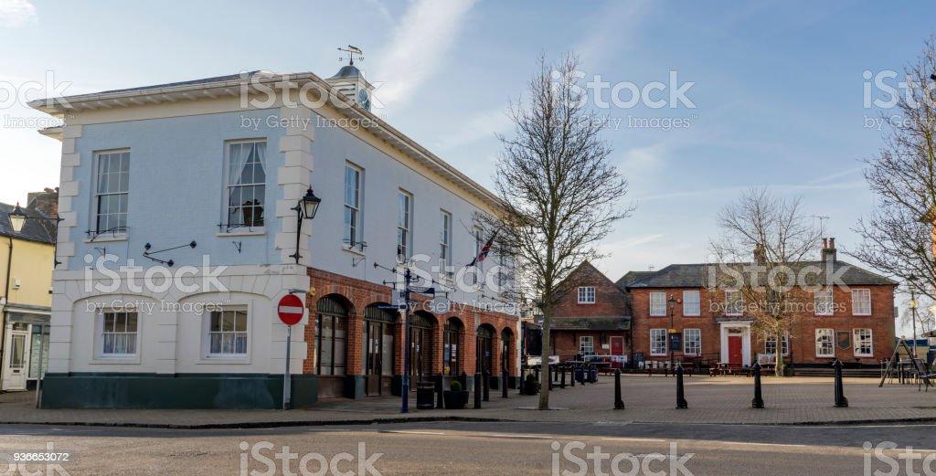 Architecture in the town of Alton in Hampshire stock photo