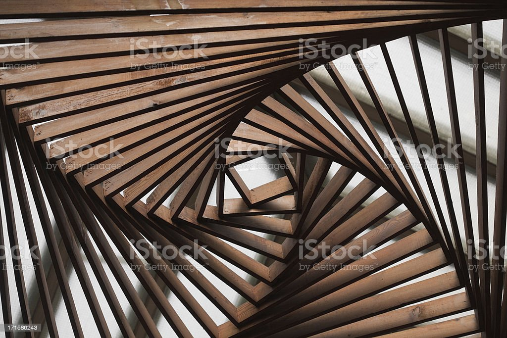 architecture in wood stock photo