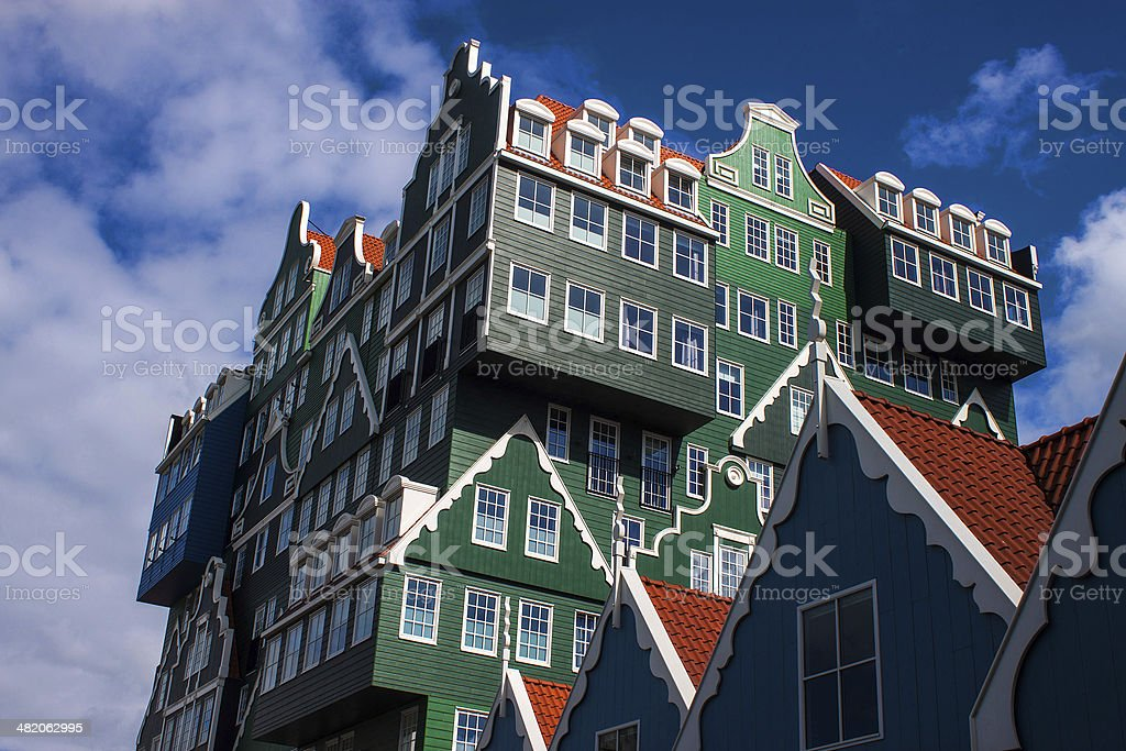 Architecture in Zaandam stock photo