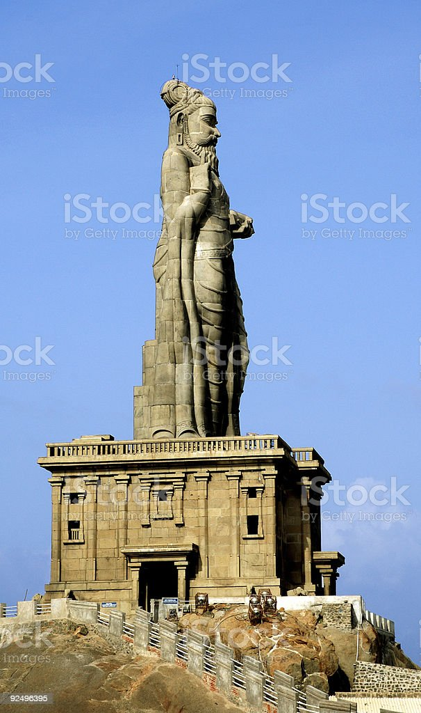 Architecture : India Poet Tiruvalluvar Statue royalty-free stock photo
