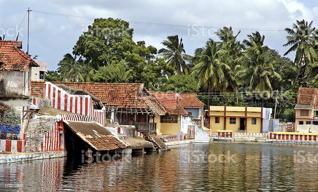 Architecture : India Temple Tank royalty-free stock photo