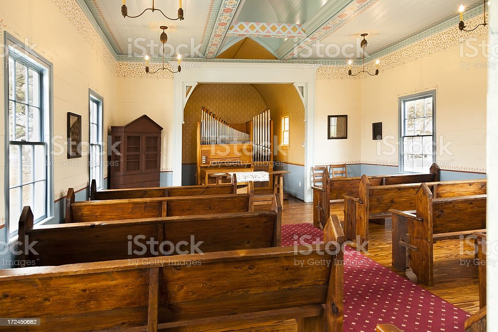 Architecture Interior Of Little Country Church In Central Texas Royalty Free Stock Photo