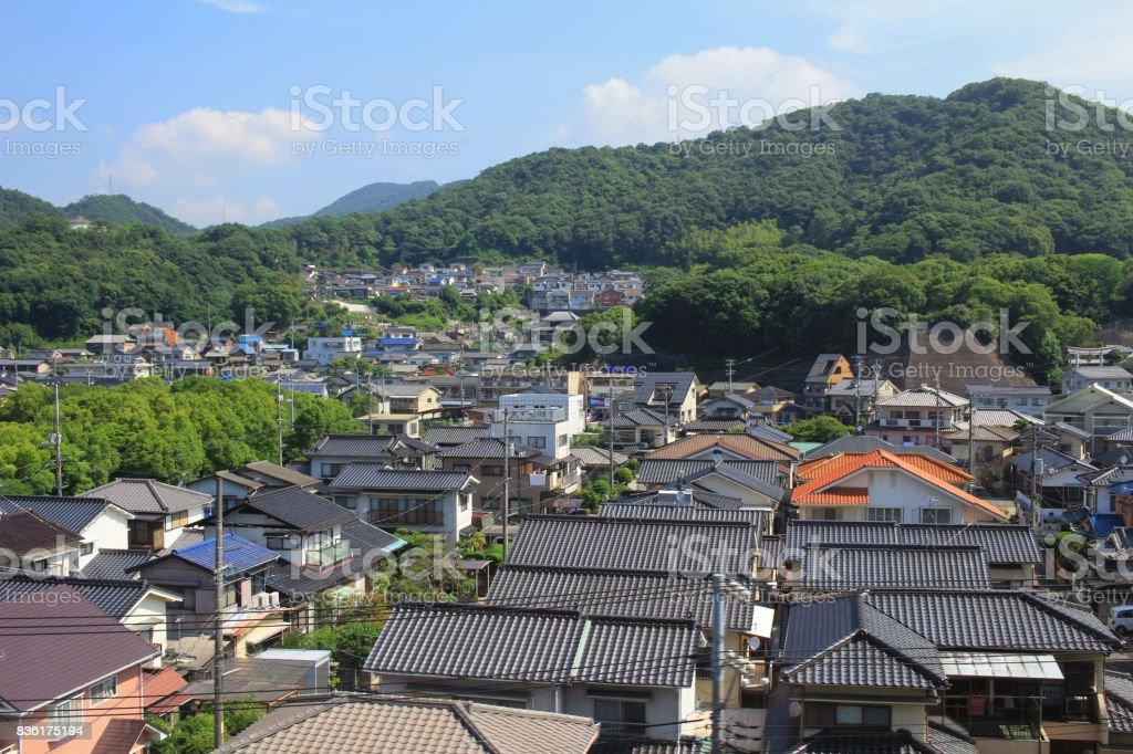 architecture is in Hiroshima prefecture 2016 stock photo