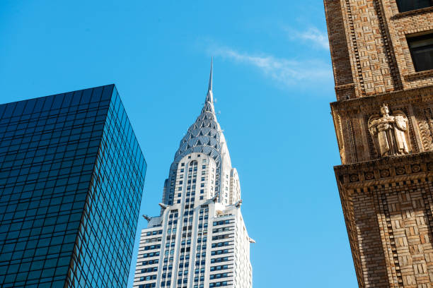 nyc architecture manhattan chrysler building usa - chrysler building stock photos and pictures