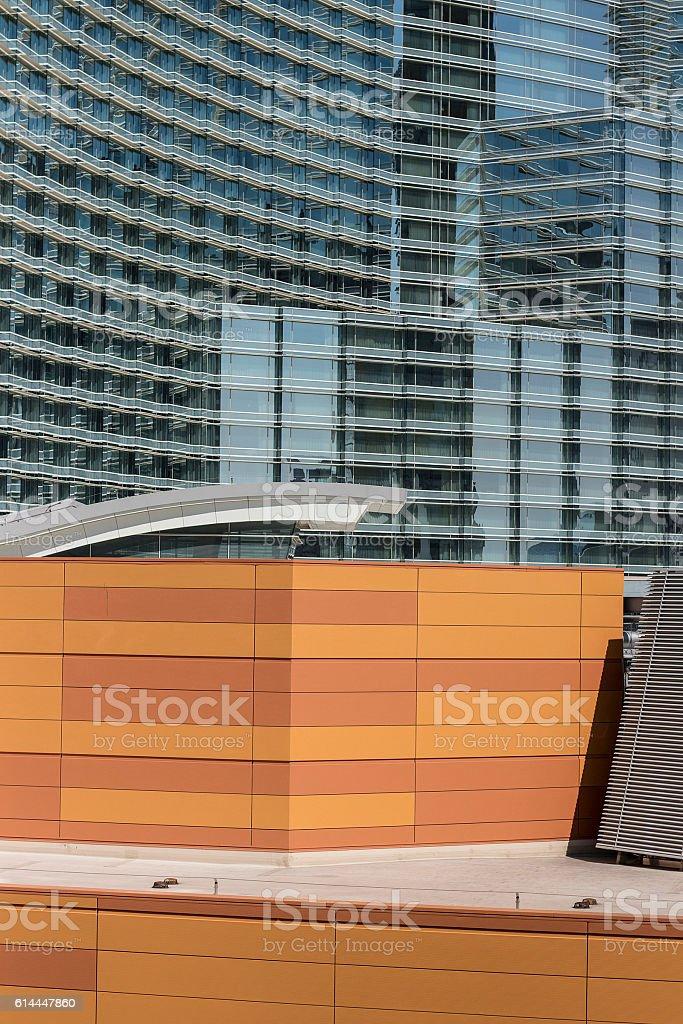 Architecture meld stock photo
