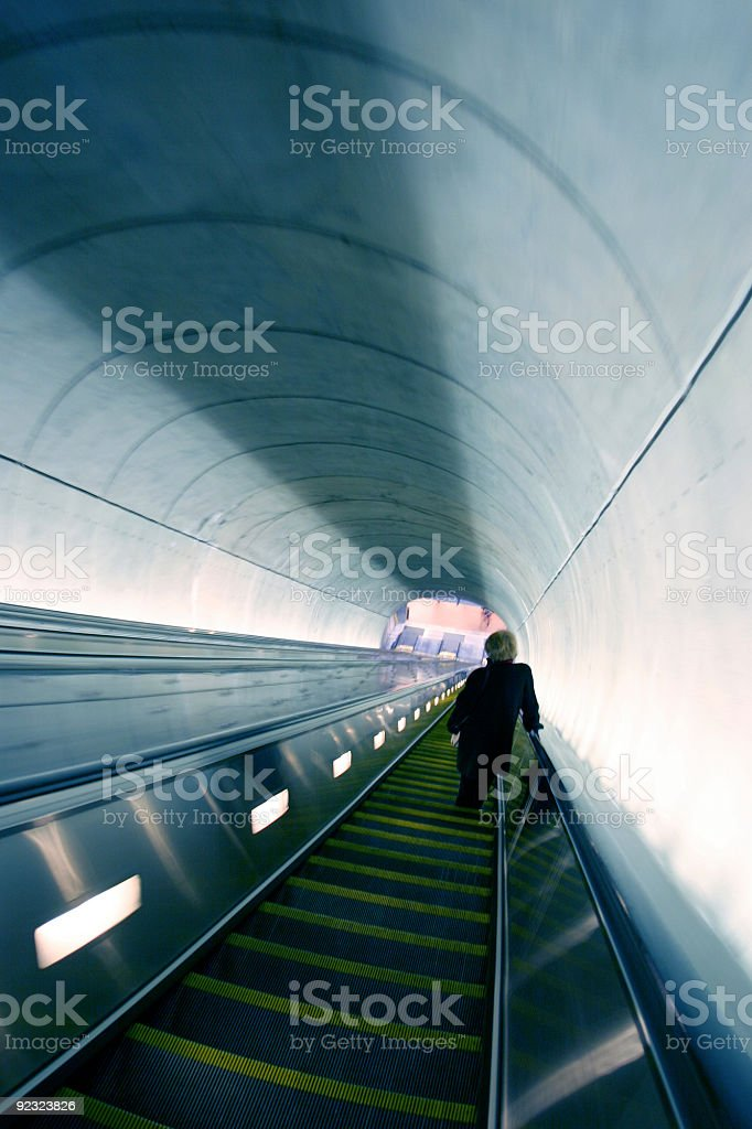 Architecture - Metro escalator stock photo