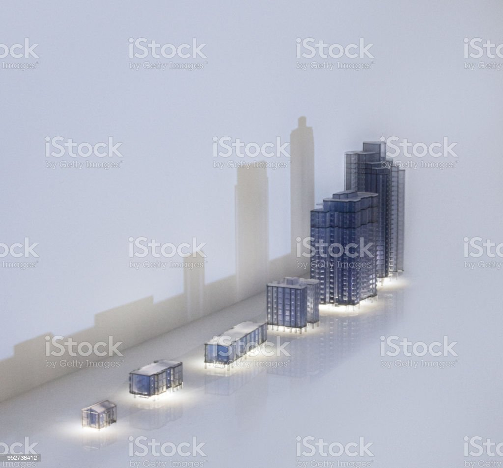 Architecture miniature models stock photo