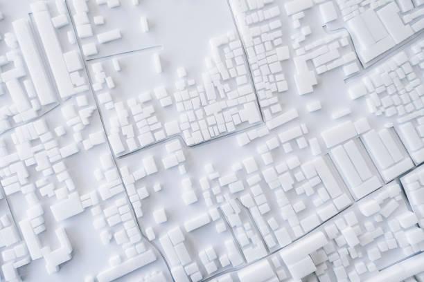 architektur modell stadtbild konzept stadtgestaltung - kleinstadt ansicht stock-fotos und bilder