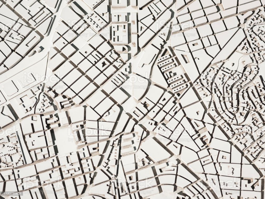 Architecture Model Urban map layout plan Capital city stock photo