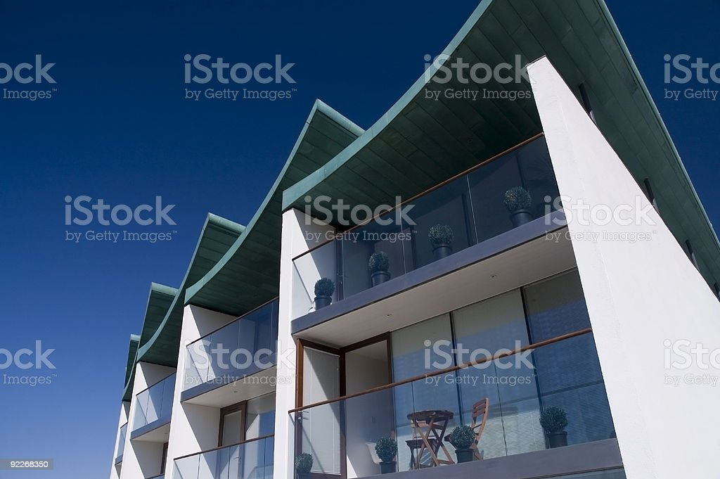 Architecture - Modern Beach Apartments royalty-free stock photo