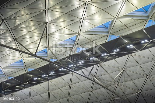 istock Architecture modern building with lighting metallic 969403120