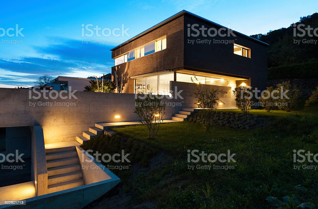 Architecture modern design, house, outdoor stock photo