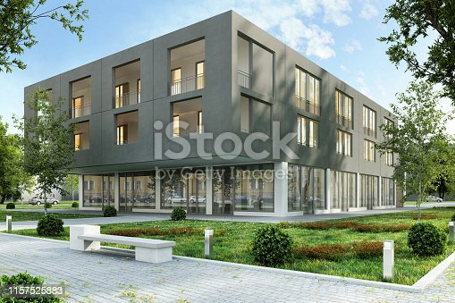 istock Architecture of a modern building 1157525883