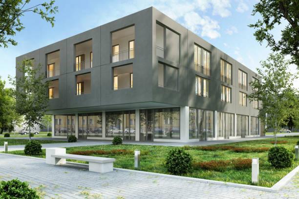 arquitetura de um edifício moderno - arranha céu - fotografias e filmes do acervo