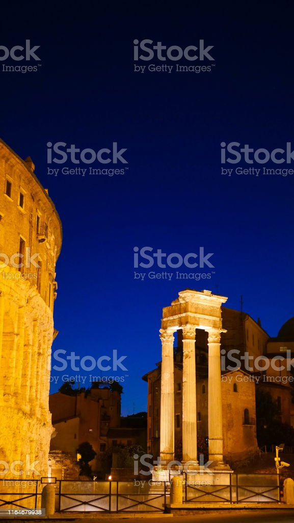 architecture of ancient Rome. excavation. Rome Italy