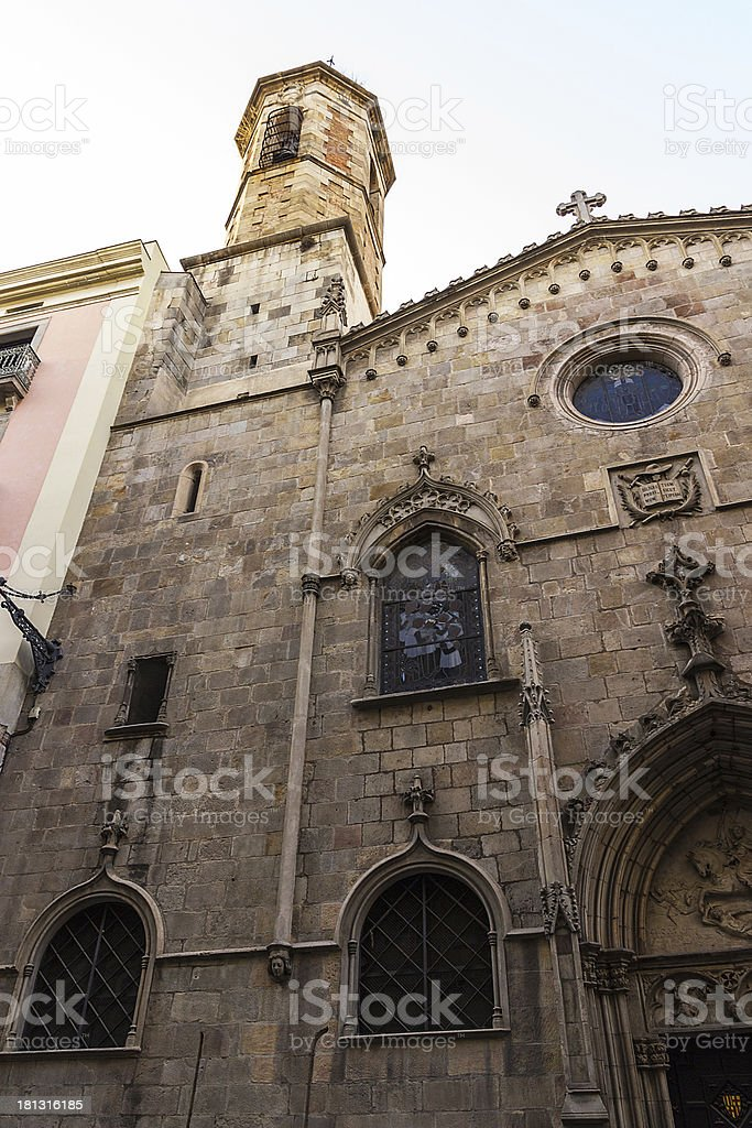 architecture of Barcelona royalty-free stock photo