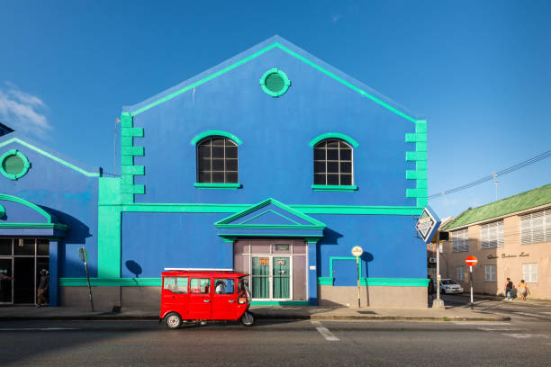 Architecture of Bridgetown, Barbados, Caribbean stock photo