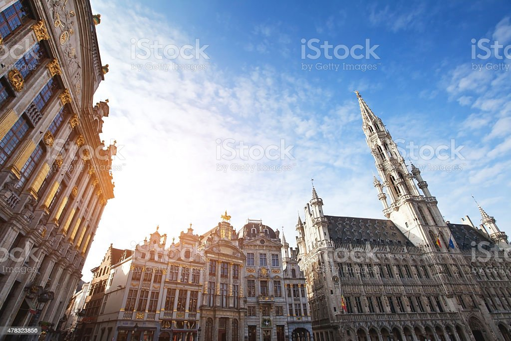 architecture of Brussels stock photo