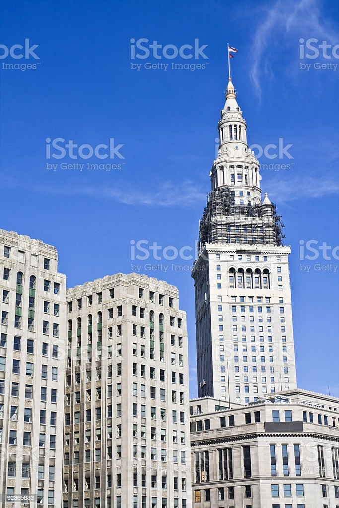 Architecture of Cleveland royalty-free stock photo