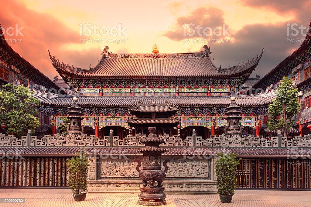 architecture of Dongshan temple stock photo