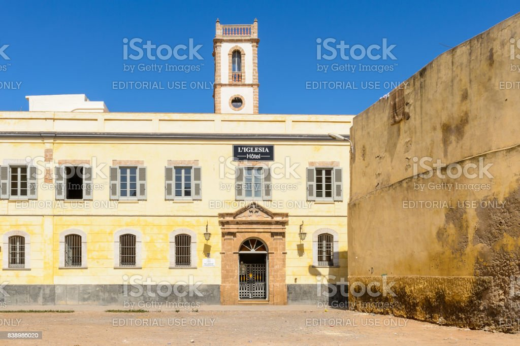 Architecture of El Jadida, Morocco stock photo