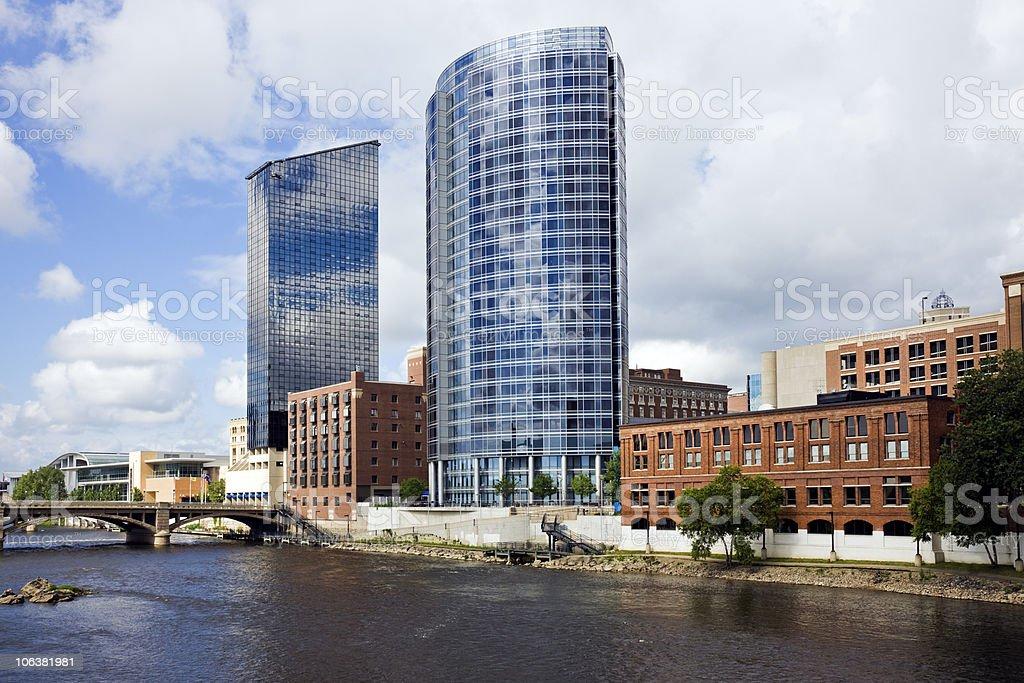 Architecture of Grand Rapids stock photo
