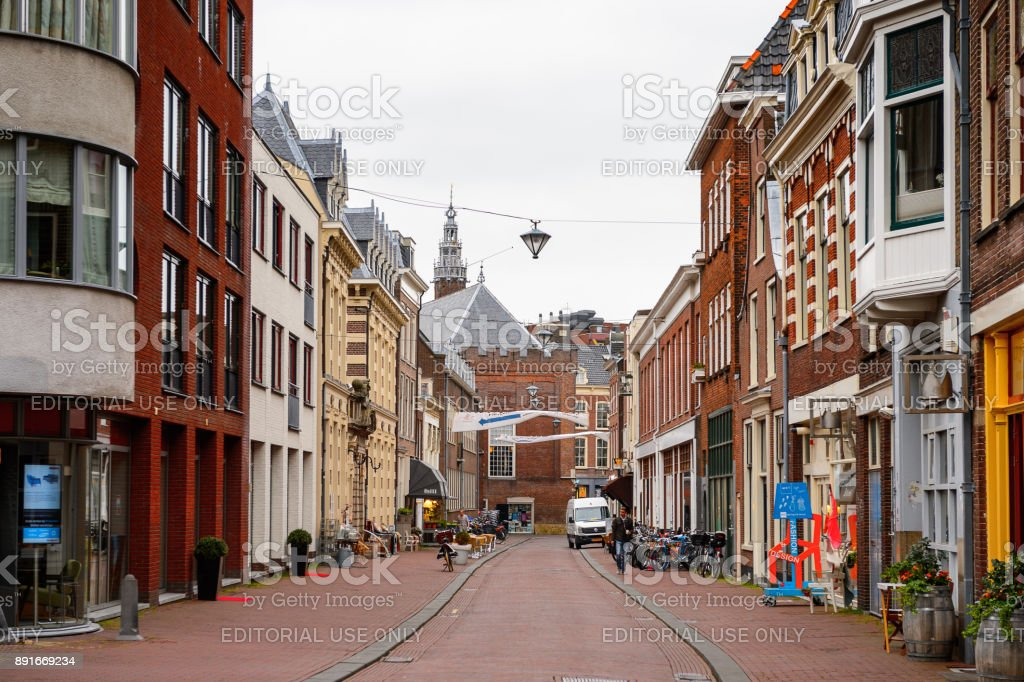 Architecture of  Haarlem, Netherlands stock photo