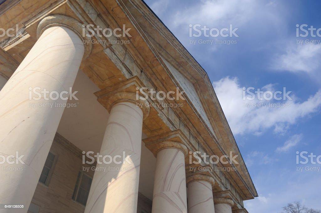 Architecture of historic Arlington House stock photo