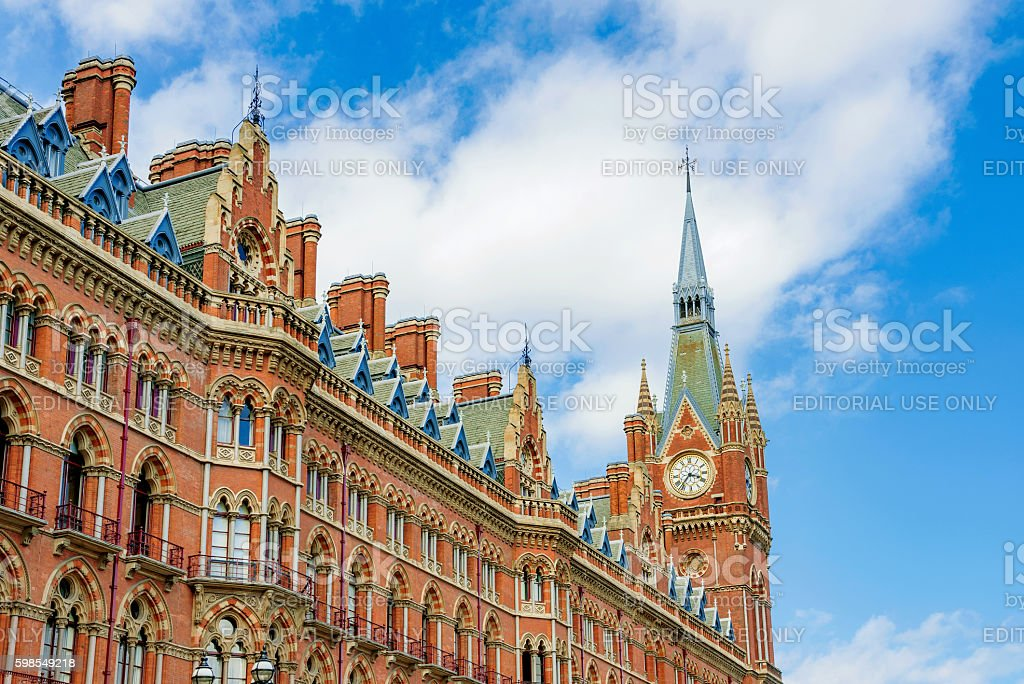 Architecture of Kings cross station stock photo
