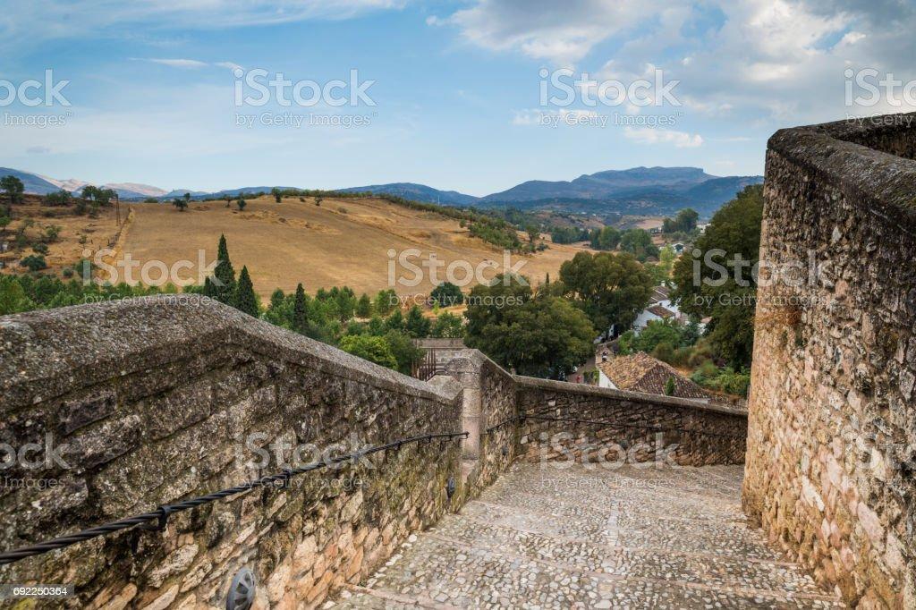Architecture of La Ronda, in the beautiful Spanish province of Málaga, Andalusia. stock photo