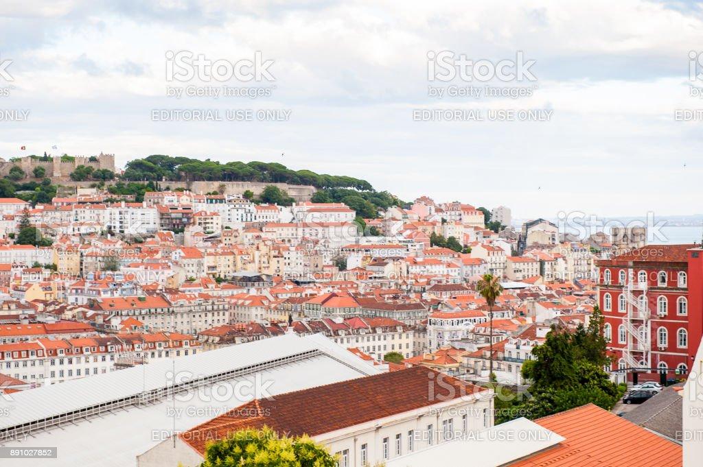Architecture of Lisbon, Portugal stock photo