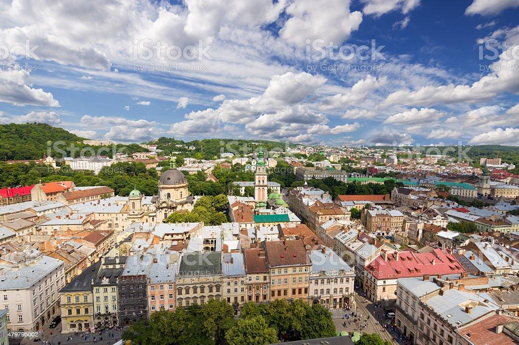 Architecture of Lviv. Ukraine. stock photo