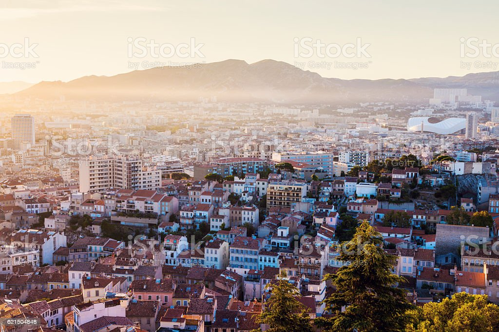 Architecture of Marseille Lizenzfreies stock-foto