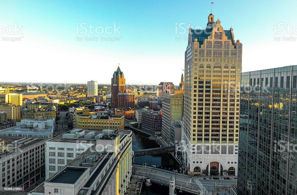 Architecture of Milwaukee stock photo