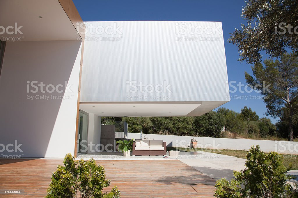 Architecture of modern house royalty-free stock photo