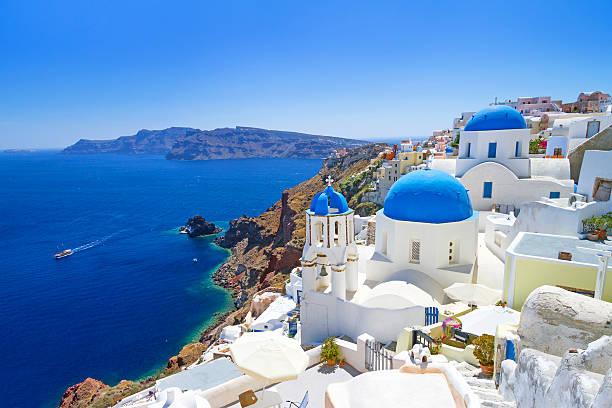 architecture de la ville d'oia sur l'île de santorin - grece photos et images de collection