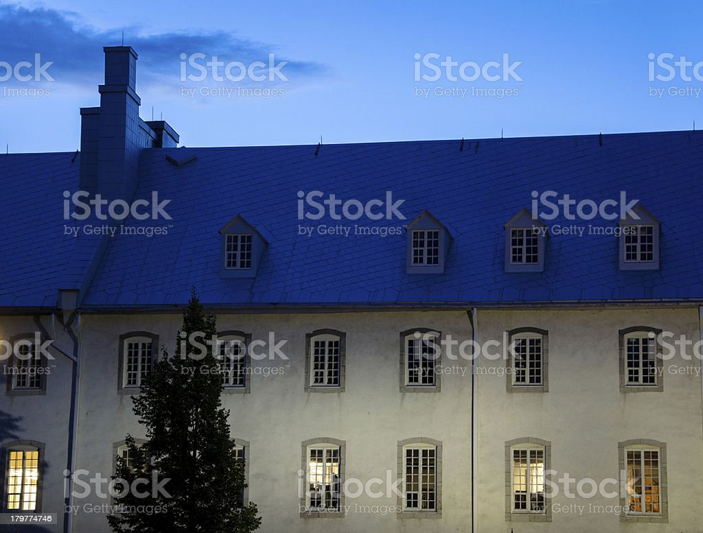 Architecture of Old Quebec City, Street, Canada royalty-free stock photo