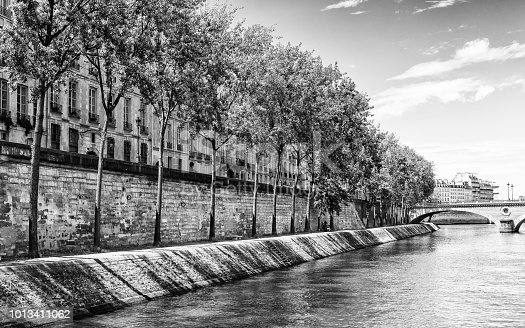 Architecture of Paris, the capital of France. View from the Seine