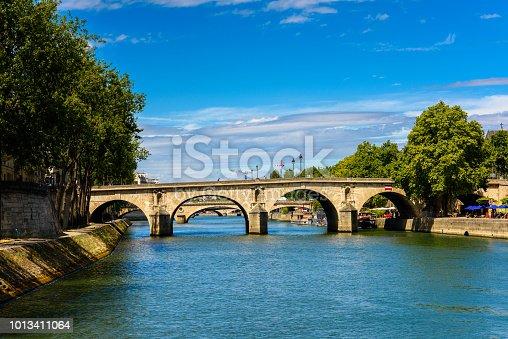Bridge over the river Seine, Paris, the capital of France.