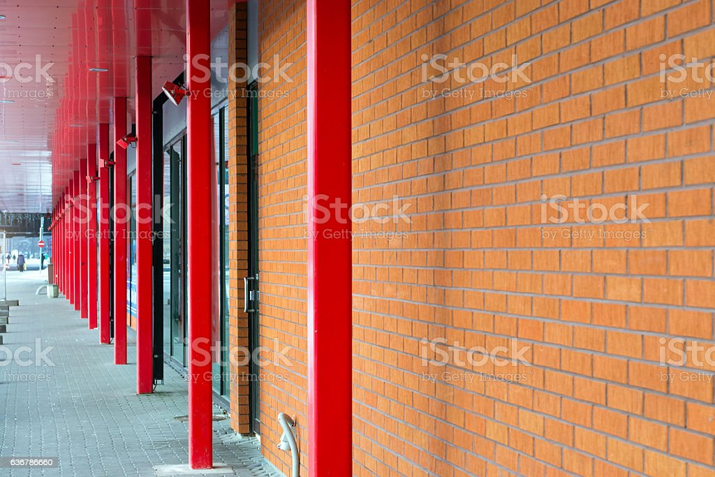 Architecture of Parnu, Estonia stock photo