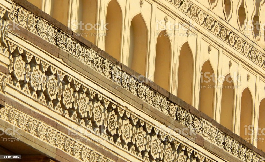 Architecture of Quli Qutub Shahi tombs built in 1800s,Hyderabd,India stock photo