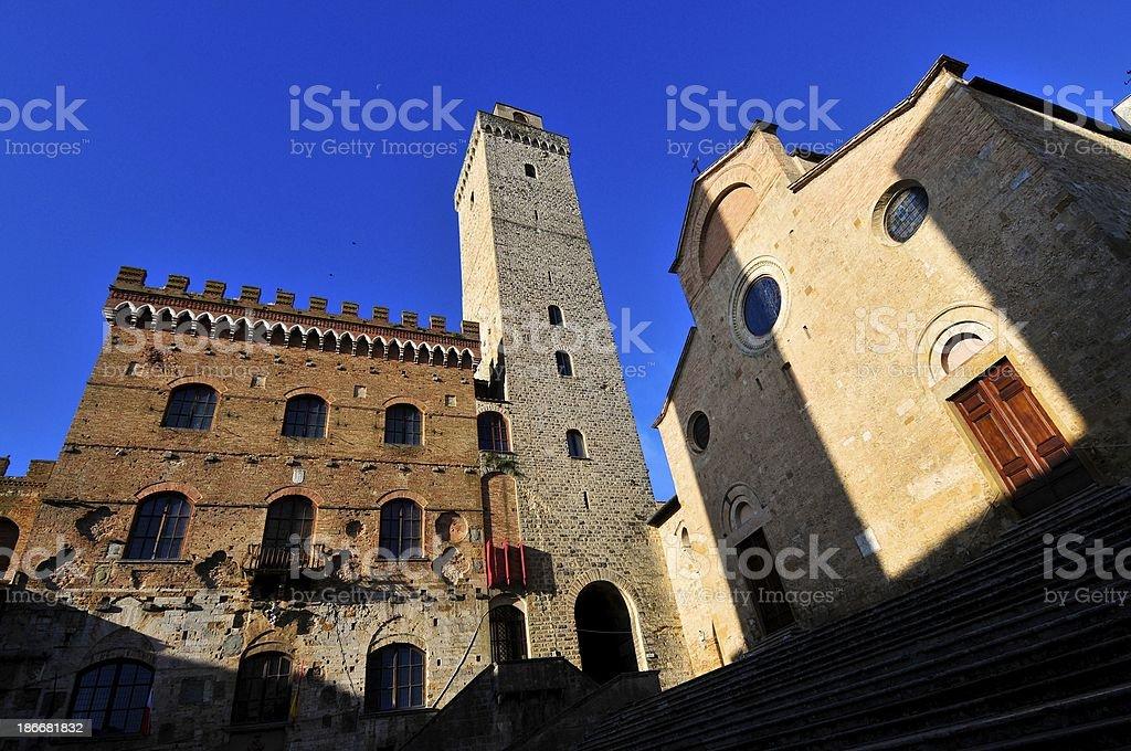 Architecture of San Gimignano Tuscany,Italy stock photo