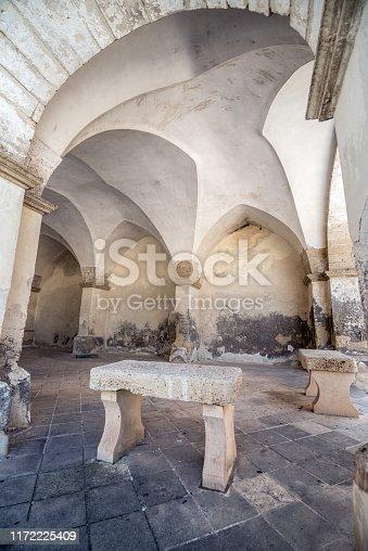 Architecture of South Italy, Puglia, Salento: Detail in Melpignano