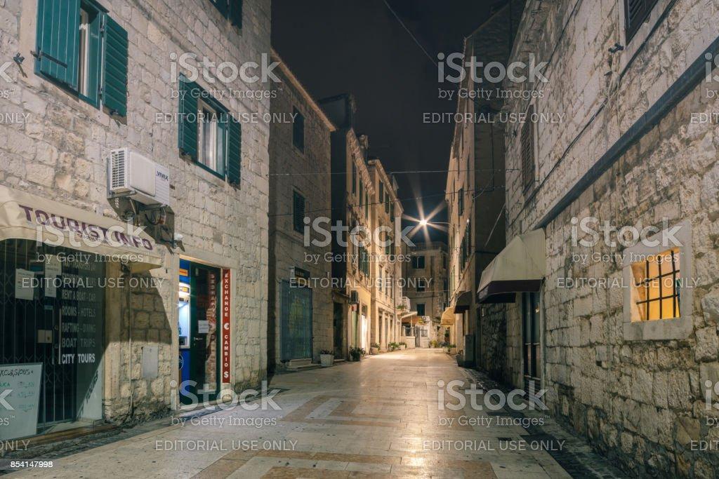 Architecture of Split, Croatia. Split is a popular tourist destination stock photo
